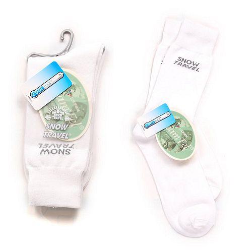 SNOWTRAVEL COOLMAX排汗快乾抗菌襪(白色)X3