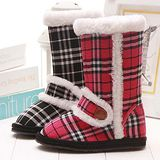 【童鞋城堡】Roberta英國格紋布長統雪靴{百貨專櫃}612680