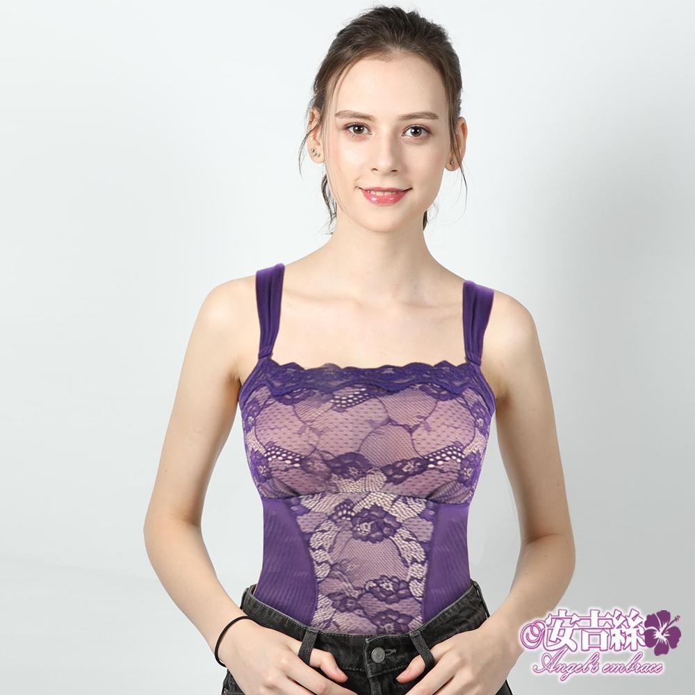 【安吉絲】纖美小可愛透氣輕盈兩截式塑衣褲組/M-XL(紫色)