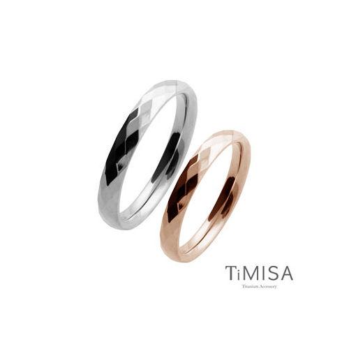 【TiMISA】格緻真愛-細版(雙色可選) 純鈦對戒
