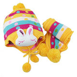 【iSFun】繽紛兔兔*兒童護耳帽+圍巾組