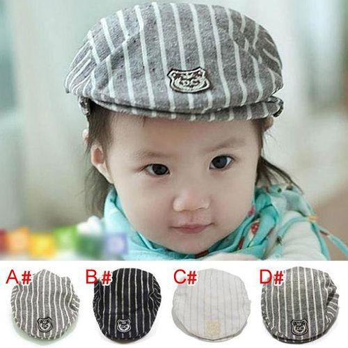 帥氣《皇冠條紋款》時尚貝蕾帽 (現貨+預購)