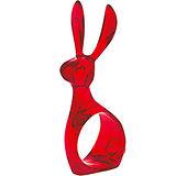 《KOZIOL》長耳兔餐巾環(透紅)