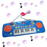 【多功能】微笑玩具麥克風電子琴