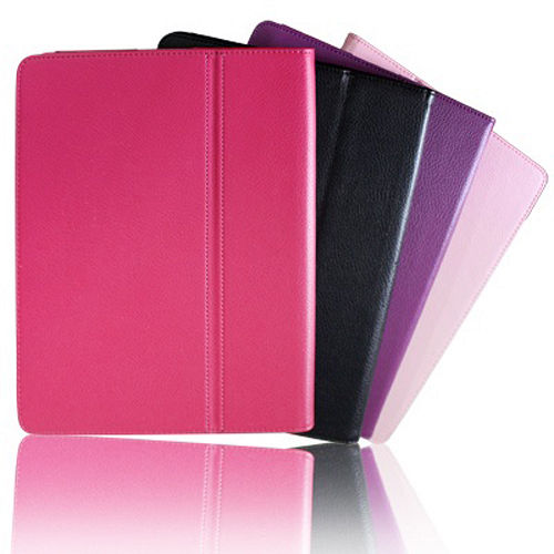 FOR iPad2/New iPad 外型超薄可站立保護皮套