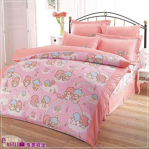 【享夢城堡】LittleTwinStars雙星樂園系列-單人床包兩用被組