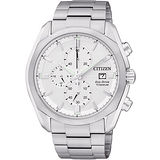 CITIZEN ECO-Drive 超級鈦金屬計時腕錶-銀 CA0021-53A