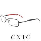 EXTE 時尚金屬全框近視平光眼鏡 EX186