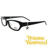 Vivienne Westwood 光學平光鏡框★狂潮星星LOGO吊飾★英倫龐克風(黑) VW167 04