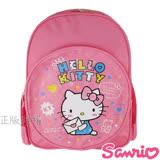 【Hello Kitty凱蒂貓】點點雙層學童後背書包(粉色)