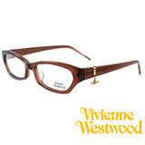 Vivienne Westwood 光學平光鏡框★狂潮土星環LOGO吊飾★英倫龐克風(咖啡) VW167 05