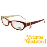 Vivienne Westwood 光學平光鏡框★狂潮星星LOGO吊飾★英倫龐克風(紅) VW167 03