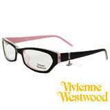 Vivienne Westwood 光學平光鏡框★狂潮土星環LOGO吊飾★英倫龐克風(黑/粉紅) VW167 06