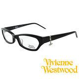 Vivienne Westwood 光學平光鏡框★狂潮土星環LOGO吊飾★英倫龐克風(黑) VW167 08