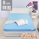 LooCa 雙認證竹炭紗8cm記憶床墊-單人3尺