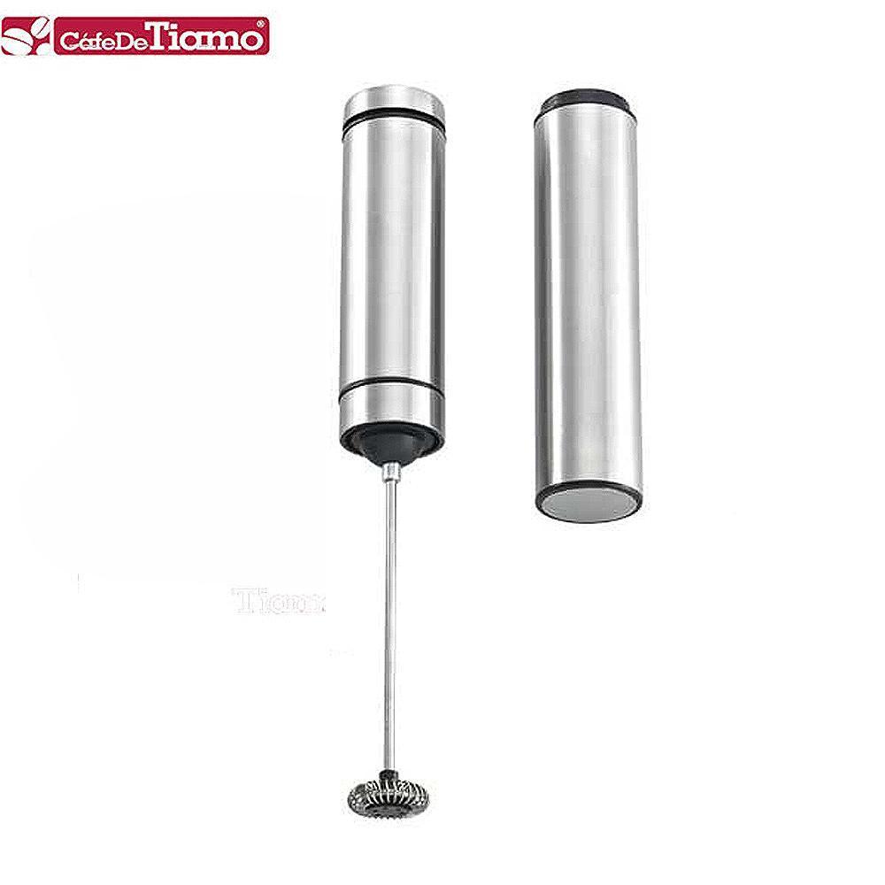 Tiamo 髮絲不鏽鋼電動奶泡器-附架 (HK0441)