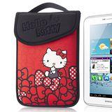 Hello Kitty 7吋平板保護袋(黏扣式)-蝴蝶結紅