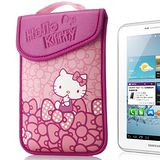 Hello Kitty 7吋平板保護袋(黏扣式)-蝴蝶結粉