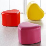 EASY HOME 愛心造型皮革椅凳(三色)