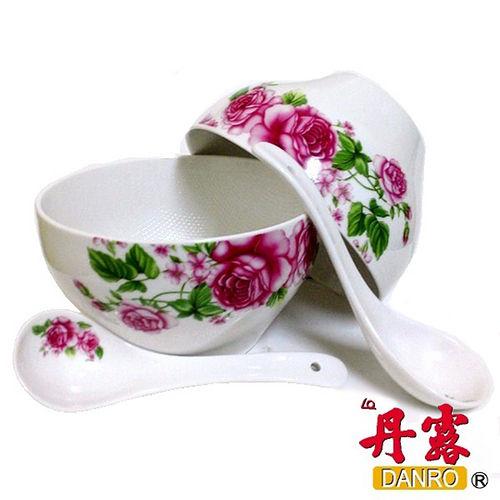 ~丹露~日式不粘陶瓷麵碗組 2碗2匙