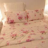 《SHINEE》雙人活性寬幅精梳棉四件式舖棉兩用被床包組(花月精靈)