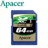 Apacer宇瞻 64GB SDXC UHS-1 Class10 記憶卡