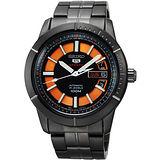 SEIKO 精工5號24石衝鋒時刻機械腕錶-IP黑 4R36-01V0SD