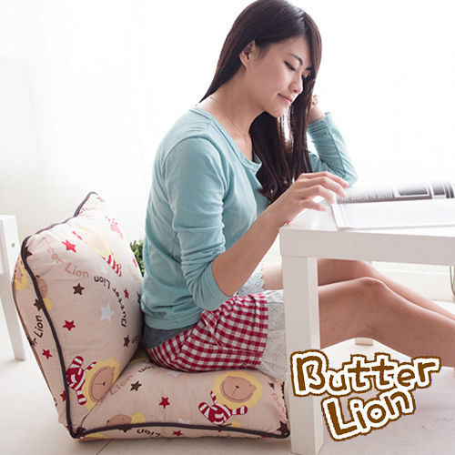 【奶油獅】正版授權-搖滾星星胖胖和室椅-米色