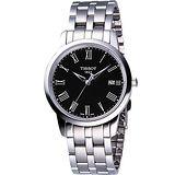 TISSOT CLASSIC DREAM 經典鋼帶腕錶-黑 T0334101105301