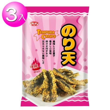小浣熊 天婦羅海苔-辣味 3包組