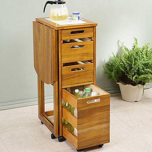 大容量收納 鄉村風折合蔬果櫃