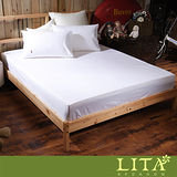 LITA麗塔(Magic Colors-瓷白) 單人二件純棉薄床包枕套組