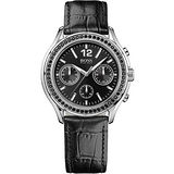 Hugo Boss 珍珠時尚三眼晶鑽腕錶-黑 H1502264