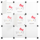 【HELLO KITTY】創意組合9格9門收納櫃(3款/5色任選)