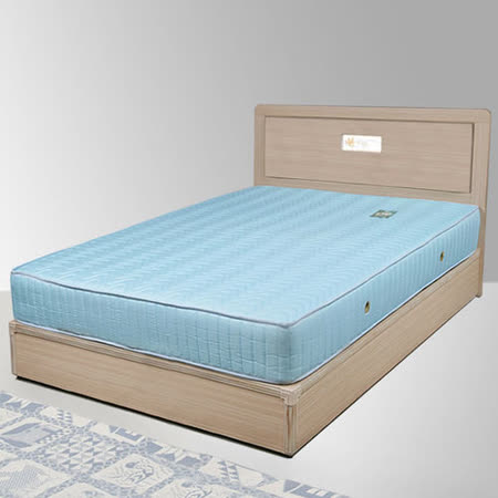 《Homelike》朵拉3.5尺床組+獨立筒床墊-單人(二色任選)