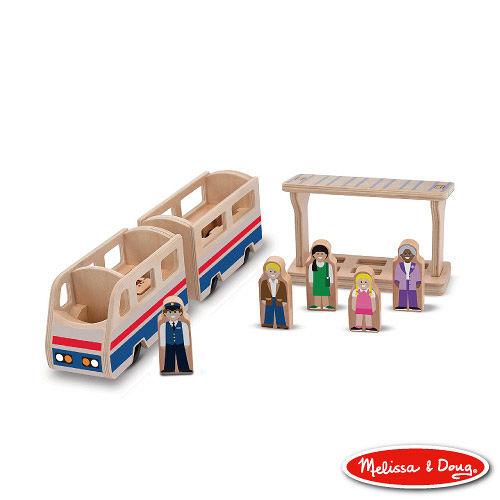 美國瑪莉莎 Melissa & Doug 小人國系列 - 木製火車月台組