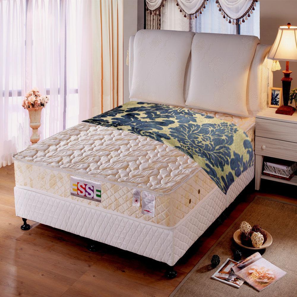 《ESSE》御璽名床【乳膠】健康彈簧床墊6x6.2尺-雙人加大