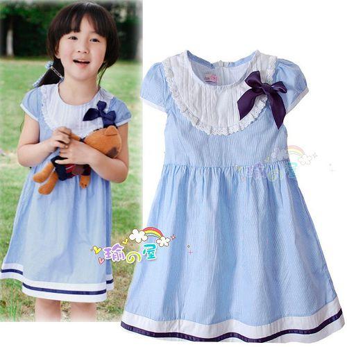 夏日《恬靜小公主-藍色》氣質小洋裝【現貨+預購】