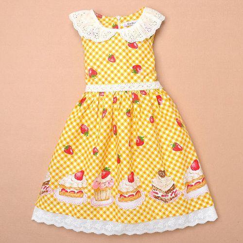 夏日《草莓蛋糕款-黃色》氣質小洋裝