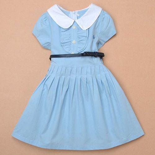 夏日《經典學院風-藍色》甜美氣質小洋裝