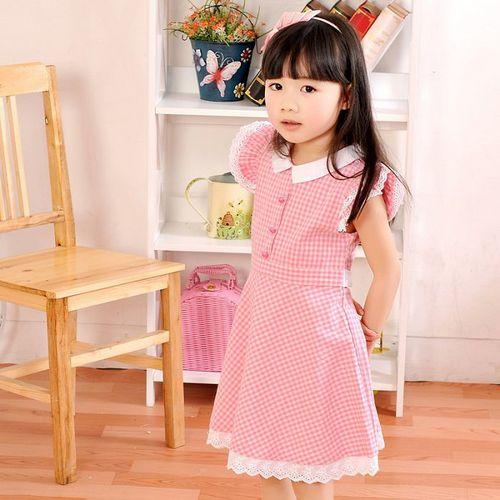 夏日《粉色格子款》甜美氣質小洋裝【現貨+預購】