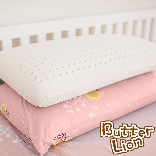 【奶油獅】正版授權-成人專用~馬來西亞進口100%純天然乳膠麵包枕-粉紅