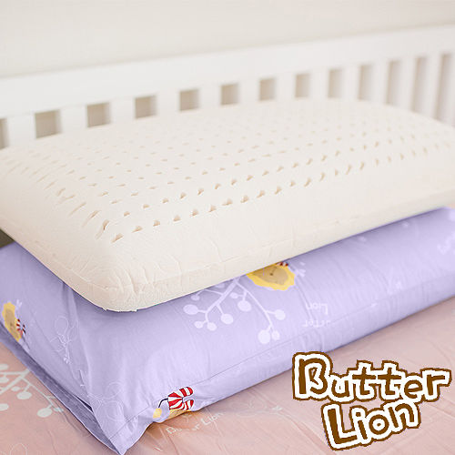 ~奶油獅~ ~成人 ~馬來西亞 100%純天然乳膠麵包枕~幻紫