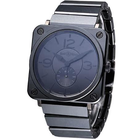 Bell & Ross 精密陶瓷時尚腕錶-(BRS-BL-CE-PHA-SCE)黑色