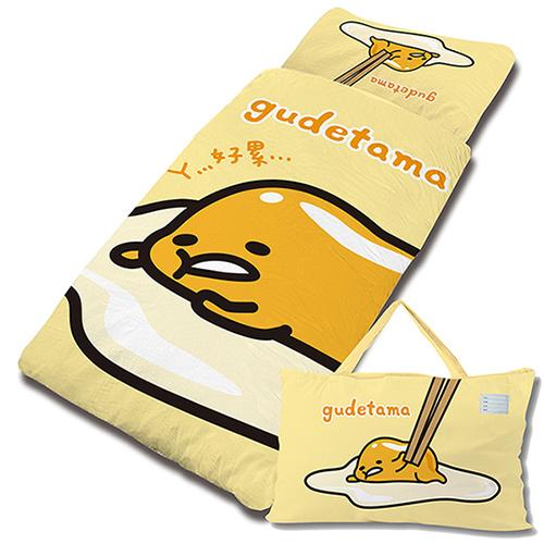 【享夢城堡】混紡棉單用4X5兒童睡袋-gudetama蛋黃哥 慵懶生活-黃