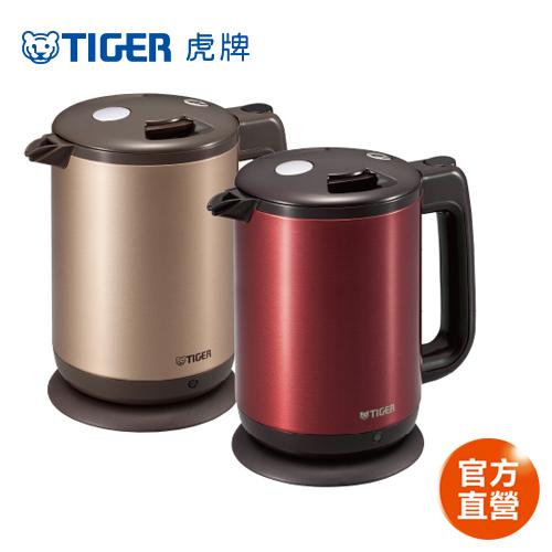 【TIGER 虎牌】1.0L 時尚造型電器快煮壺(PCD-A10R)買就送虎牌380CC保溫保冷食物罐(隨機出貨)