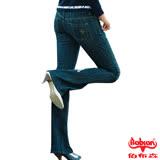 【BOBSON】女款磨力美人爪釘伸縮小喇叭牛仔褲(9016-55)