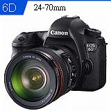 Canon EOS 6D+24-70mm F4 L USM組(中文平輸) -加送強力大吹球+細毛刷+拭鏡布+硬式保護貼