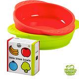 美國 Kinderville 寶寶矽膠小碗 (一組2入, 紅色+綠色)
