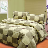 《格韻風情咖》單人三件式床包被套組台灣製造